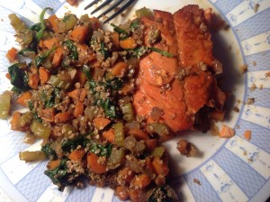 Salmon dinner
